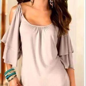 Tops - Gray short sleeve top